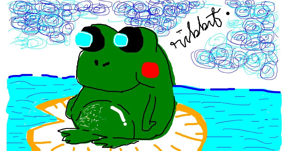 Drawing of Frog by dins