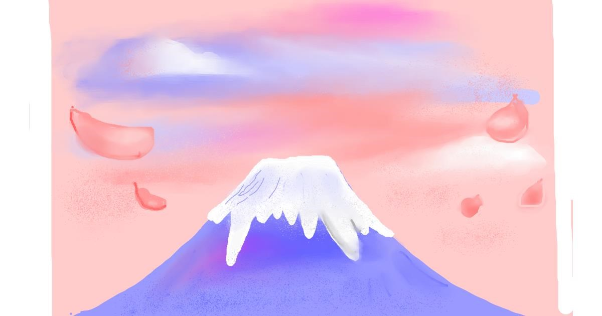 Drawing of Mountain by Vania