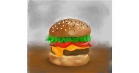Burger drawing by Iris