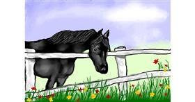Horse drawing by Debidolittle