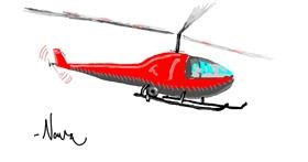 Helicopter drawing by nova