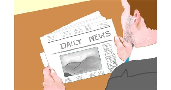 Newspaper drawing by GJP