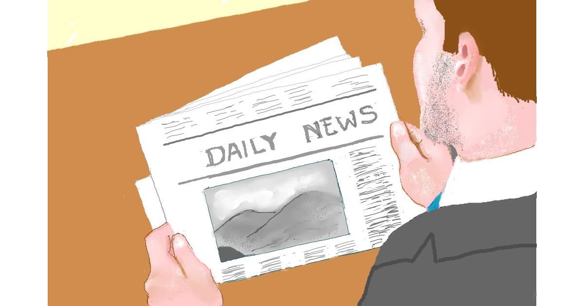 Newspaper drawing by GJP