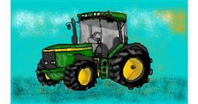 Tractor drawing by Kira