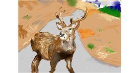 Drawing of Deer by Effulgent Emerald
