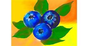 Blueberry drawing by Debidolittle