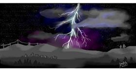 Lightning drawing by bjorn