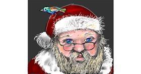 Santa Claus drawing by Leah