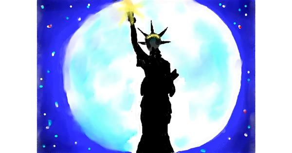 Statue of Liberty drawing by Debidolittle