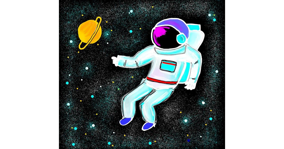 Astronaut drawing by Dream
