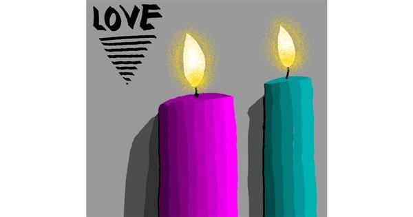 Candle drawing by Loves