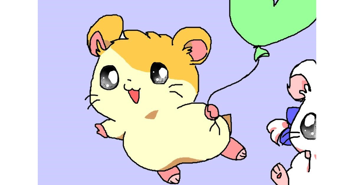 Drawing of Hamster by InessaC