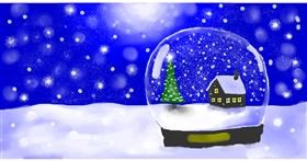 Drawing of Snow globe by Pinky