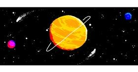 Planet drawing by le monke