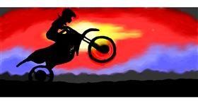 Drawing of Motorbike by Debidolittle