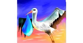 Stork drawing by irza
