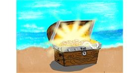 Drawing of Treasure chest by Dada