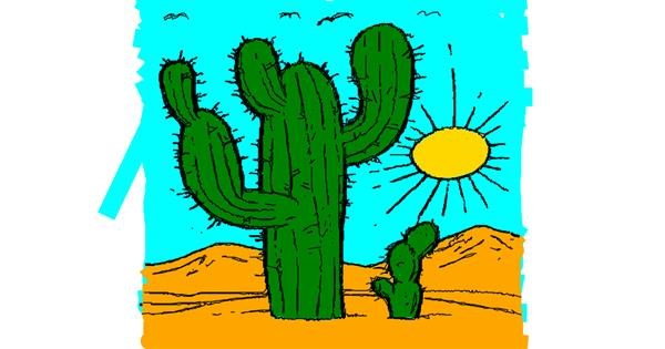 Cactus drawing by Drawn