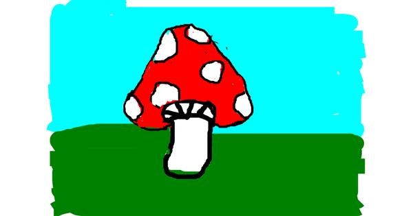 Mushroom drawing by m