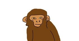 Monkey drawing by lol
