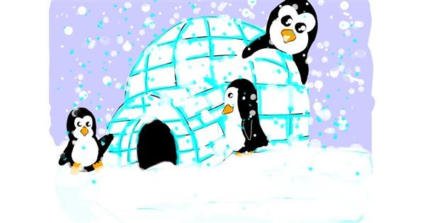 Igloo drawing by Jennifreis