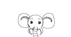 Elephant drawing by Des
