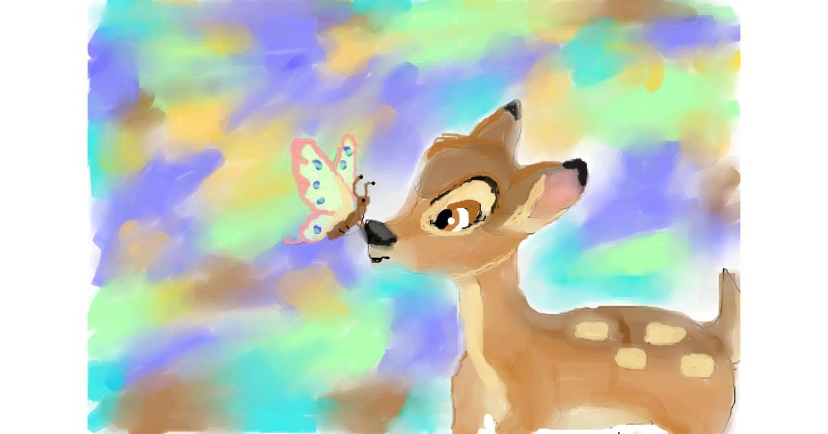 Drawing of Bambi by cj
