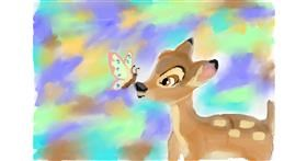Bambi drawing by cj