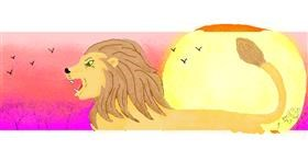 Drawing of Lion by butters