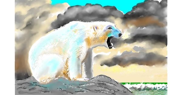 Polar Bear drawing by GJP