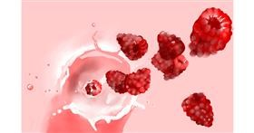 Raspberry drawing by Rose rocket