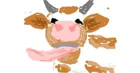 Drawing of Cow by Firsttry