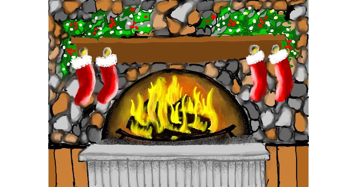 Fireplace drawing by SAM AKA MARGARET 🙄