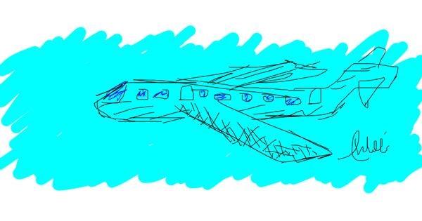Airplane drawing by jihopekook9457