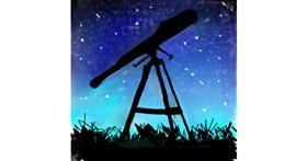 Telescope drawing by Anwesha
