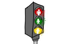 Traffic light drawing by Gabi