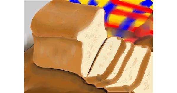 Bread drawing by Zi