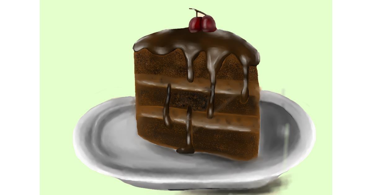 Cake drawing by Jan
