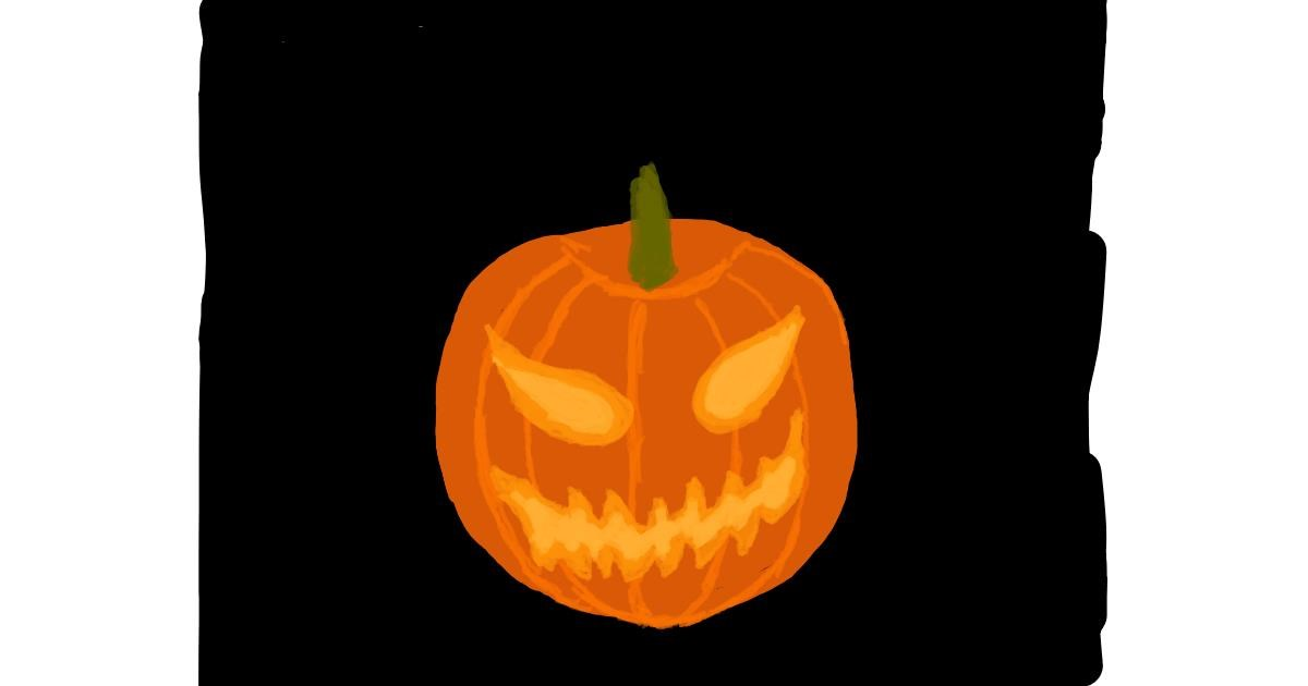Pumpkin drawing by Alexis