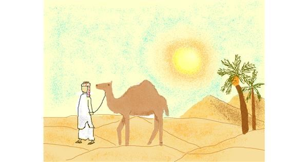 Camel drawing by cottoncloud7