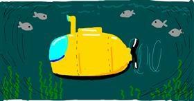 Submarine drawing by Nina