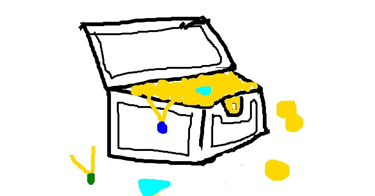 Drawing of Treasure chest by MPK