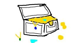 Treasure chest drawing by MPK