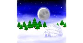 Igloo drawing by Joze