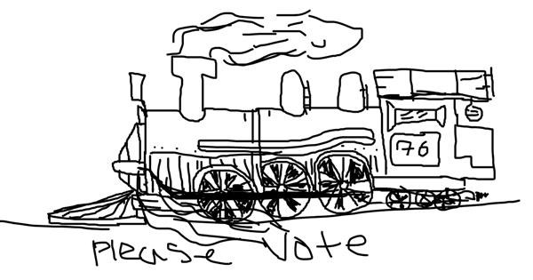 Train drawing by Astha