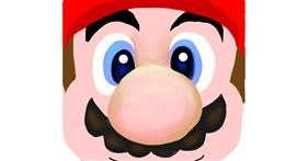 Super Mario drawing by Emit