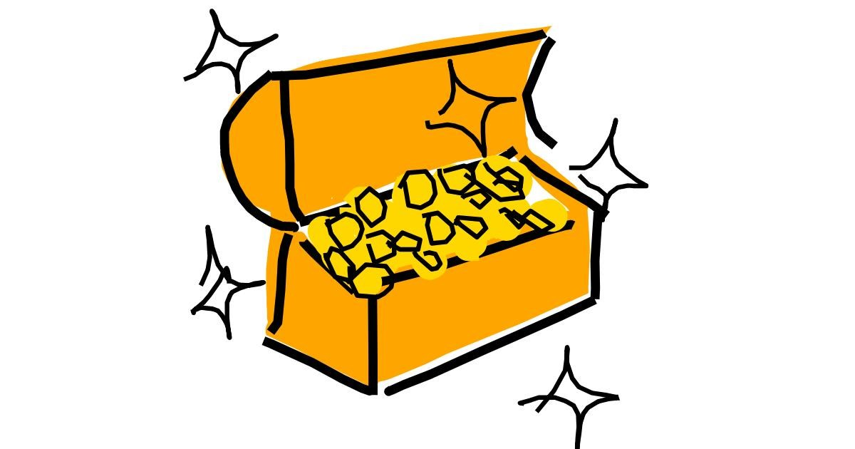 Drawing of Treasure chest by Kamie
