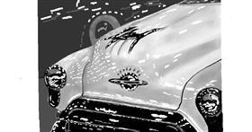 Car drawing by GJP