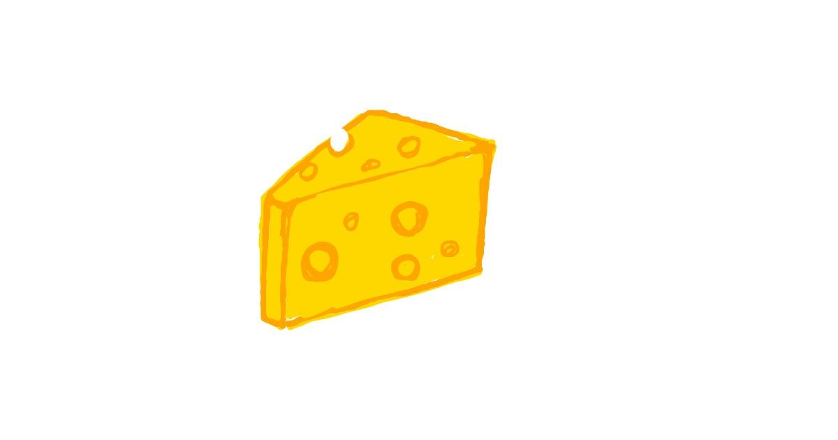 Drawing of Cheese by Ufo