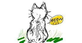 Cat drawing by !waffleru